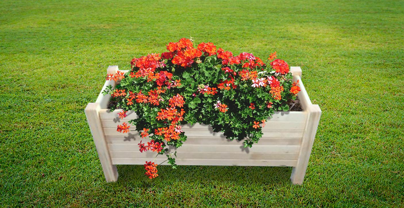 fioriera in legno da esterno