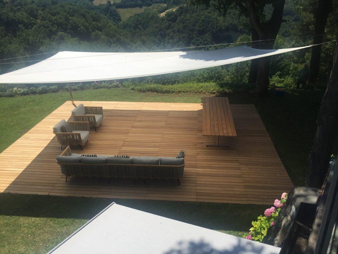 Copertura esterna per giardino, pergolato in legno